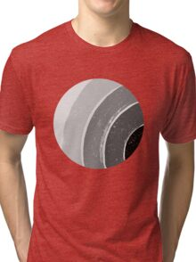 Brush Abstract 4 Grey Tri-blend T-Shirt
