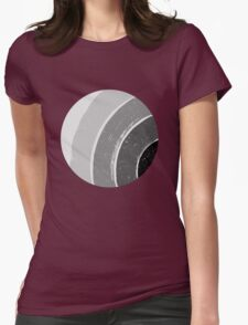 Brush Abstract 4 Grey Womens Fitted T-Shirt