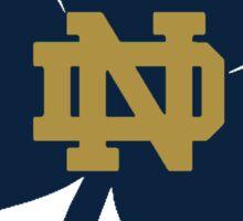 Notre Dame Blue Clover Sticker