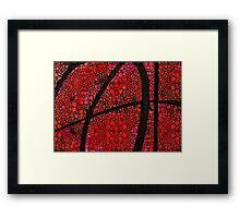 AH - Red Stone Rock'd Art by Sharon Cummings Framed Print