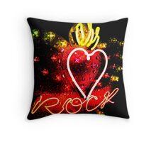 Queen of Rock Throw Pillow