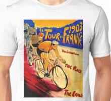 """""""TOUR DE FRANCE """" Vintage (1903) Bike Racing Print Unisex T-Shirt"""