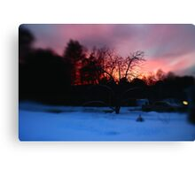 Fiery Lensbaby Sunset Canvas Print