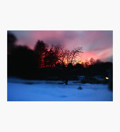 Fiery Lensbaby Sunset Photographic Print