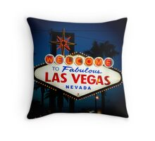 Welcome to Sin City Throw Pillow