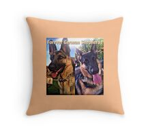 Forever German Shepherds Throw Pillow
