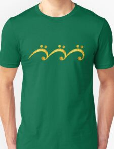 Bass Clef, Wave, Music, Surf, Party, Dance, Trance Unisex T-Shirt