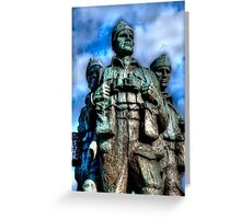 Commando Statue Greeting Card