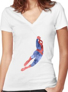 The Amazing Spider-man Women's Fitted V-Neck T-Shirt