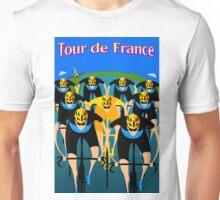"""""""TOUR DE FRANCE"""" Art Deco Bike Racing Print Unisex T-Shirt"""