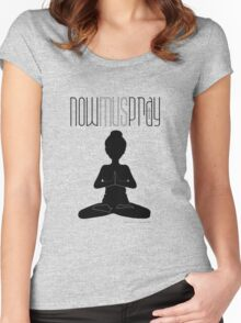 Yoga+pray female Women's Fitted Scoop T-Shirt