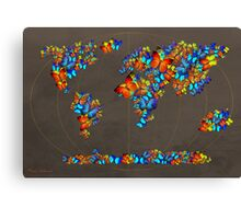 map fatefully  Canvas Print