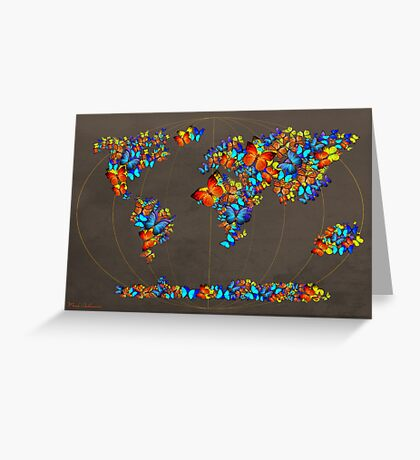 map fatefully  Greeting Card