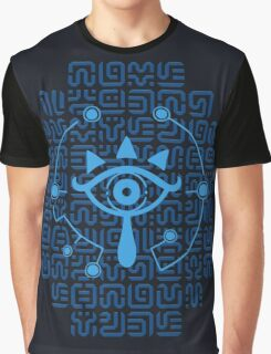 Blue Sheikah Runes Graphic T-Shirt