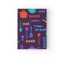 Kitchen Fun Pattern Hardcover Journal