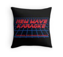 New Wave Karaoke - BladeRunner Font - Pillow Throw Pillow