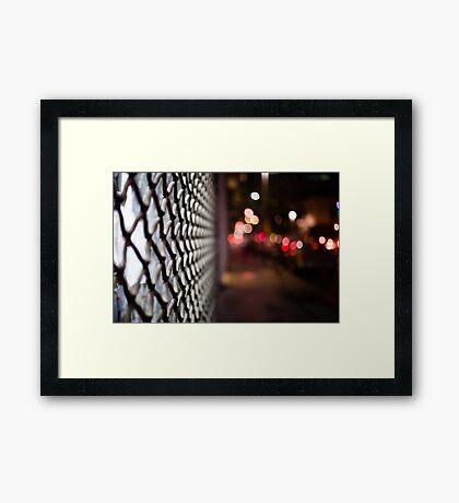 blurred street Framed Print