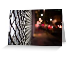 blurred street Greeting Card