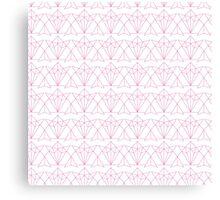 Origami Pink Fox Canvas Print