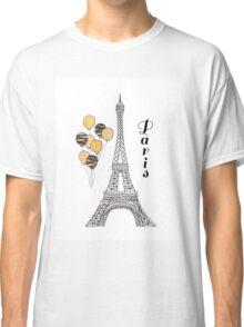 Paris Black and Gold Balloons Classic T-Shirt