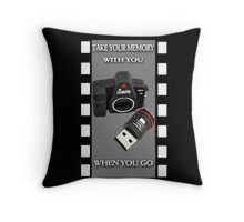 .•*¨*•♪♫•*¨*•TAKE YOUR MEMORY WITH YOU WHEN YOU GO..THROW PILLOW.•*¨*•♪♫•*¨*• Throw Pillow