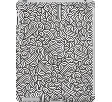 White and black swirls zentangle iPad Case/Skin