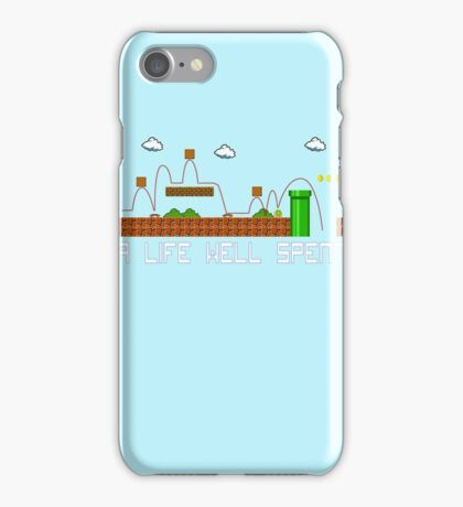 A Life Well Spent iPhone Case/Skin