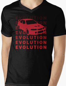 Mitsubishi Evo JDM Car Shirt Mens V-Neck T-Shirt