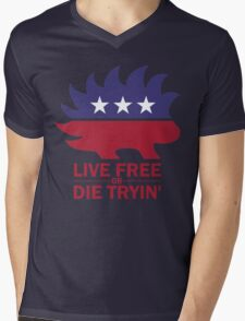 Libertarian - Live Free or Die Tryin Mens V-Neck T-Shirt
