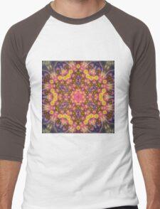 Orange Mandala - Abstract Fractal Artwork Men's Baseball ¾ T-Shirt