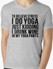 Wine Stress Yoga Pants Mens V-Neck T-Shirt