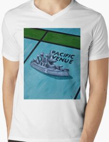 Battle Ship Mens V-Neck T-Shirt