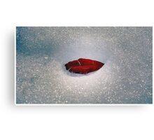 Icy Leaf Lips Canvas Print