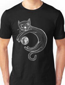 Playful Cat (White) Unisex T-Shirt