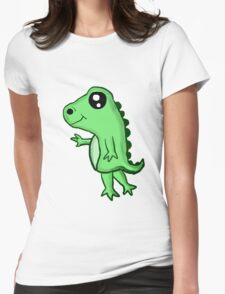 Chibi T-Rex Womens Fitted T-Shirt