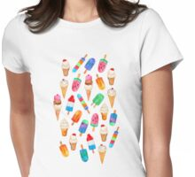 Summer Pops and Ice Cream Dreams Womens Fitted T-Shirt