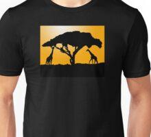 Giraffe Silhouette Unisex T-Shirt