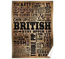 VINTAGE BRITISH SAYINGS Poster