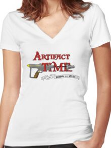 Artifact Time! Women's Fitted V-Neck T-Shirt