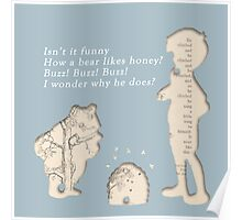 Winnie The Pooh Book Print Poster