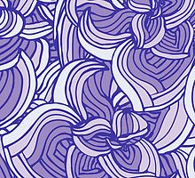 Violet floral abstract pattern by alenakaz