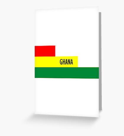 World Cup: Ghana Greeting Card