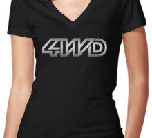 4wd westy vw Women's Fitted V-Neck T-Shirt