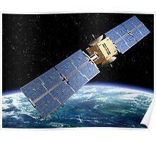 Communication Satellite Poster