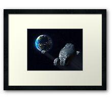Ominous asteroid Framed Print