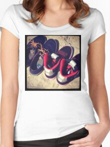 Beach Shoes  Women's Fitted Scoop T-Shirt