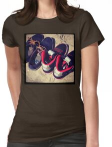 Beach Shoes  Womens Fitted T-Shirt