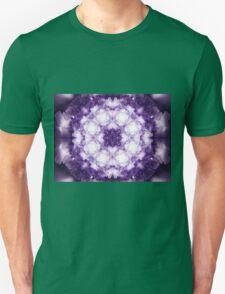 Violet Mandala - Abstract Fractal Artwork Unisex T-Shirt