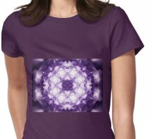 Violet Mandala - Abstract Fractal Artwork Womens Fitted T-Shirt