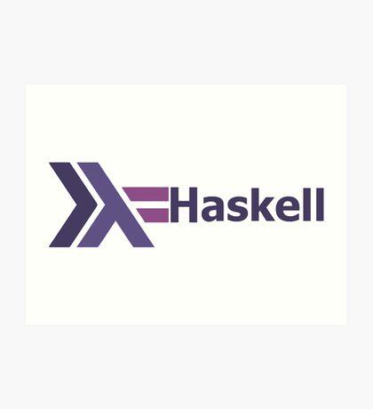 haskell programming language  Art Print